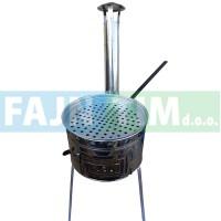 Peč za kostanje inox s ponvijo fi 33