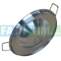 Krožnik za peko inox fi 400 mm z ročaji