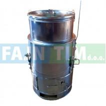 Kotel iz nerjaveče pločevine alfa 120 litrov